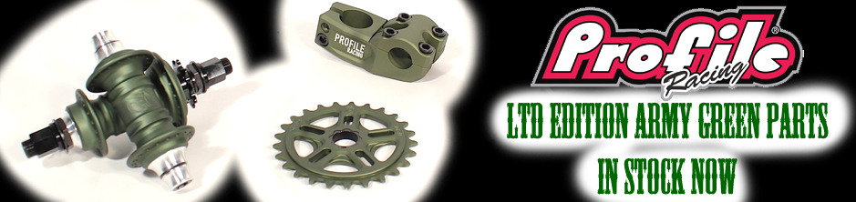 profile bmx army green parts