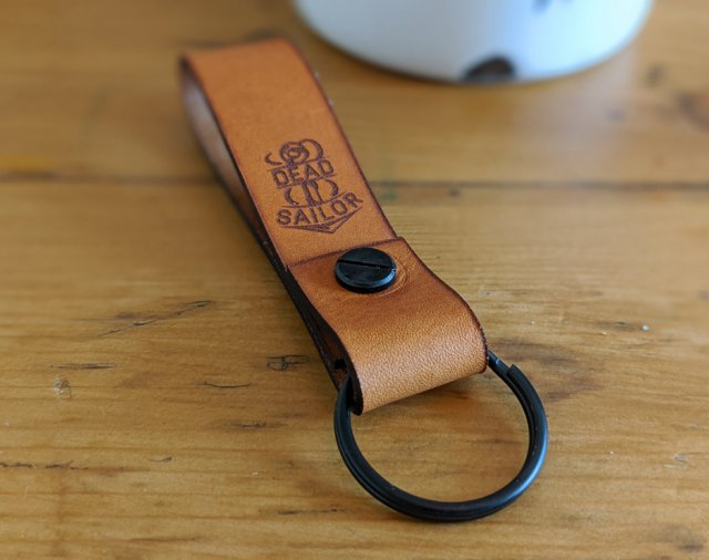 Dead Sailor Leather Key Loop