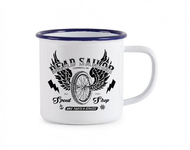 Dead Sailor Speed Shop Enamel Mug