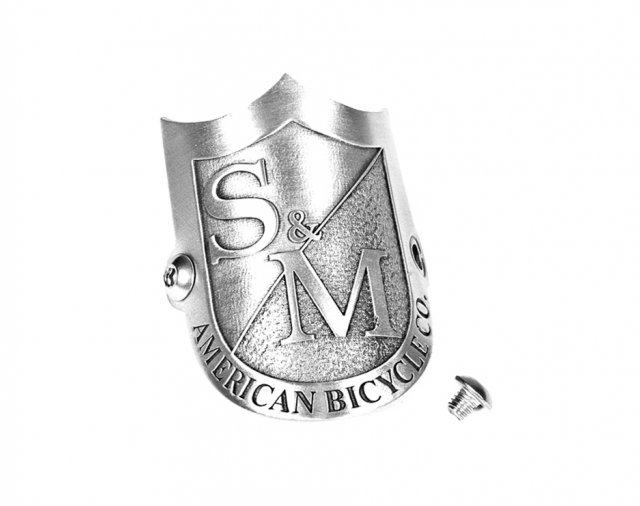 S&M Shield Head Tube Badge